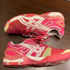 ASICS Ahar Athletic Shoe  Pink, Red, Rose Sz 8